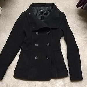 H&M Black Pea Coat
